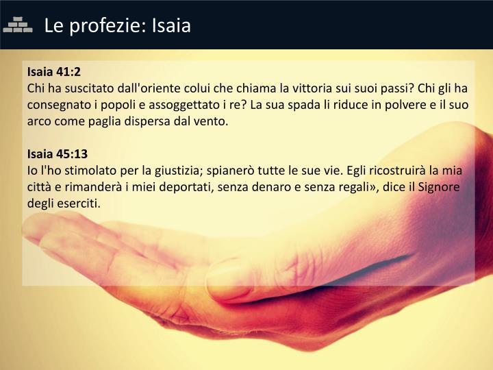 Le profezie: Isaia