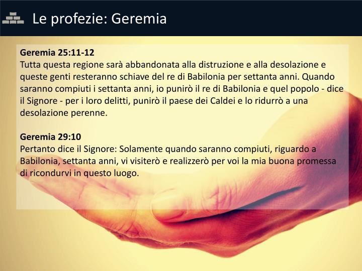 Le profezie: Geremia