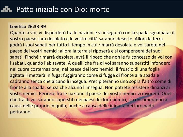 Patto iniziale con Dio: morte