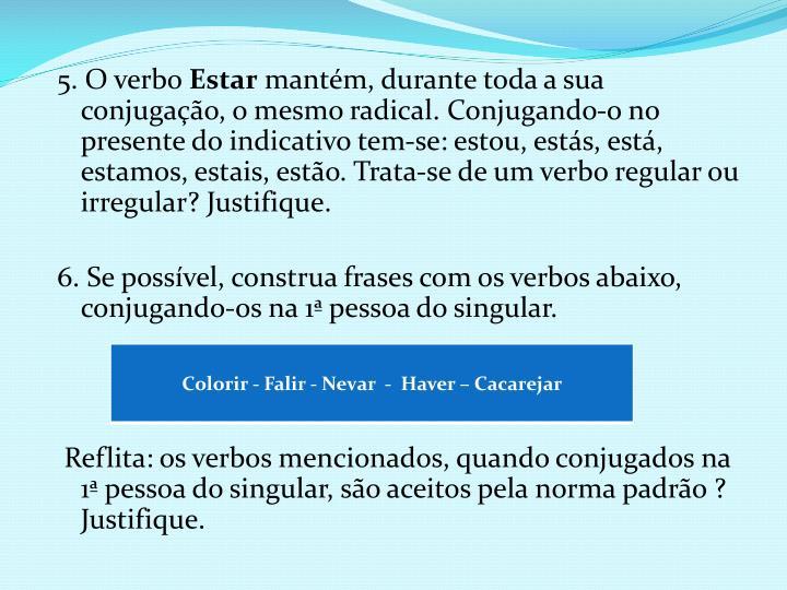 5. O verbo