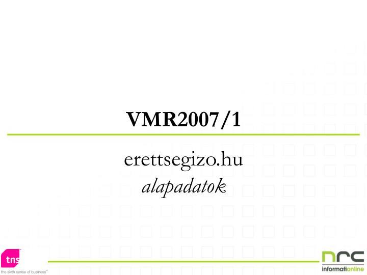 VMR2007/1