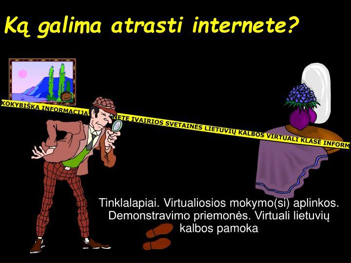 Ką galima atrasti internete?