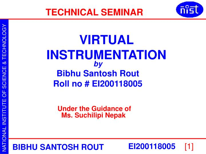 Virtual Instrumentation - National Instruments