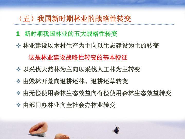 (五)我国新时期林业的战略性转变