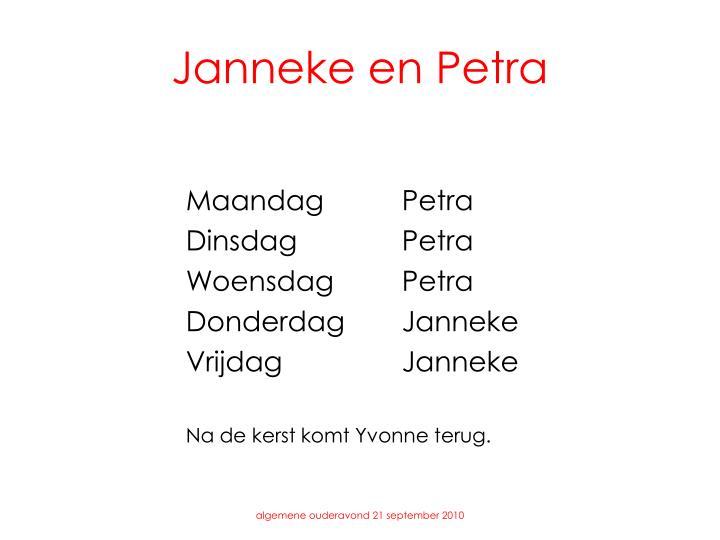 Janneke en Petra