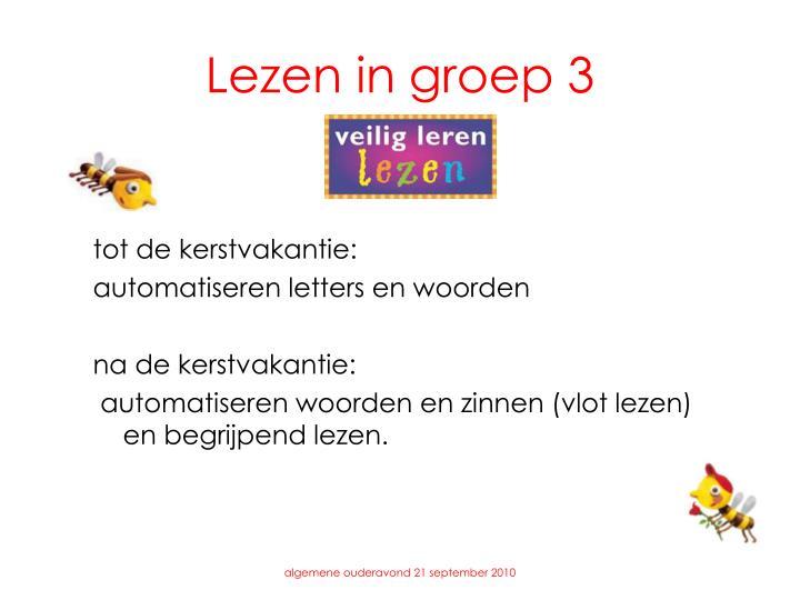 Lezen in groep 3
