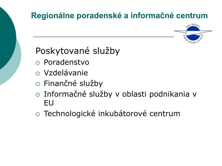 Regionálne poradenské a informačné centrum