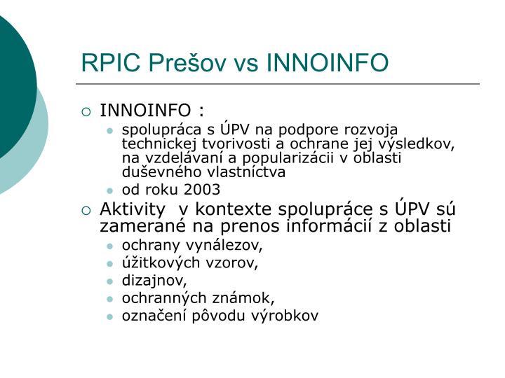RPIC Prešov vs INNOINFO