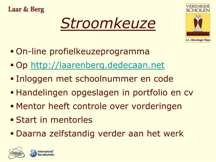 Stroomkeuze