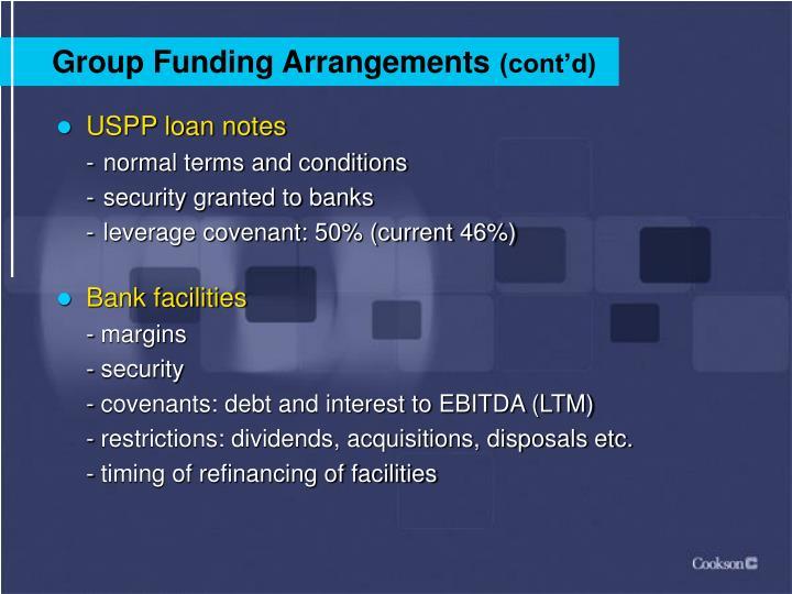 Group Funding Arrangements