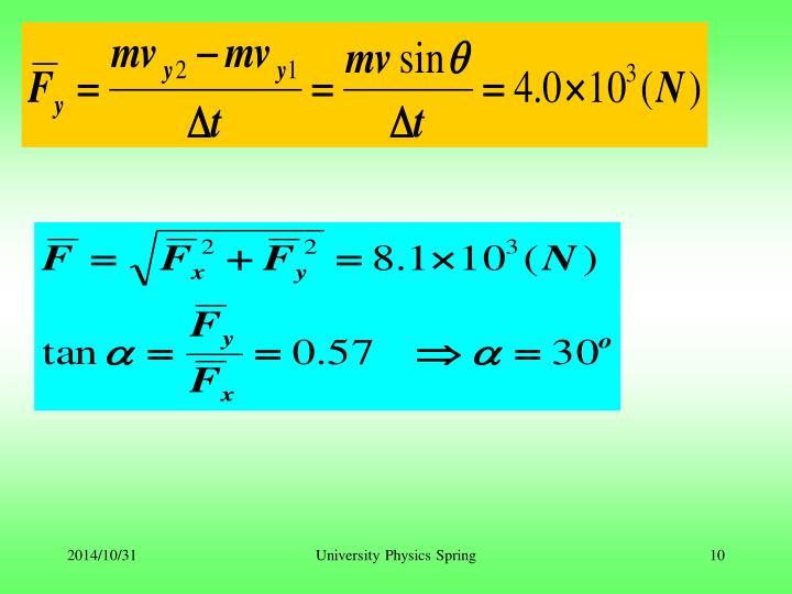University Physics Spring