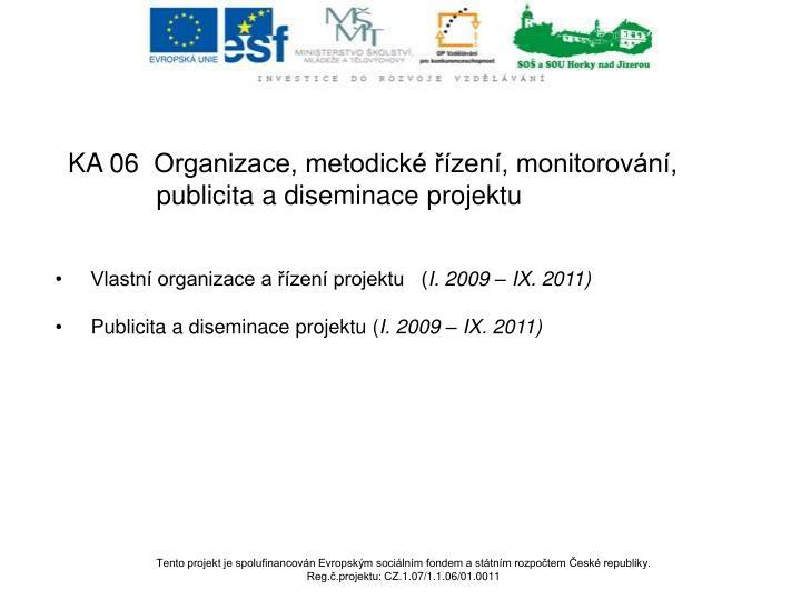 Vlastní organizace a řízení projektu   (