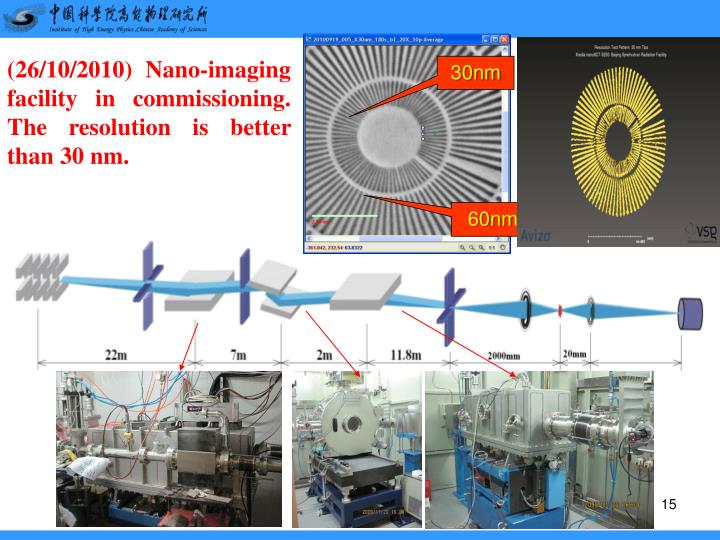 (26/10/2010) Nano-imaging facility in commissioning. The resolution is better than 30 nm.