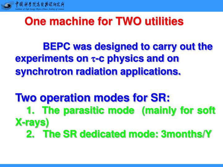 One machine for TWO utilities
