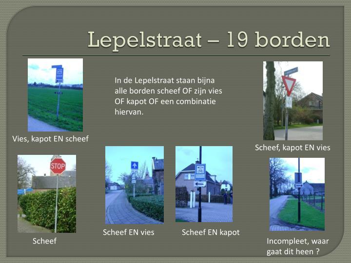 Lepelstraat – 19 borden