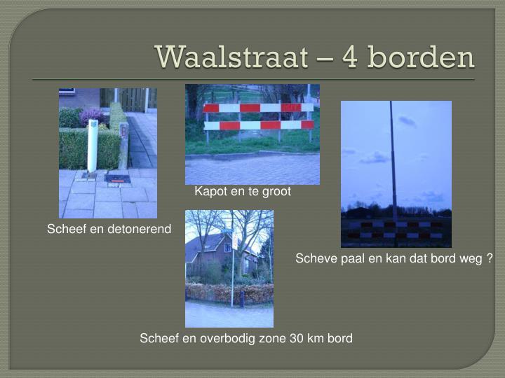 Waalstraat – 4 borden