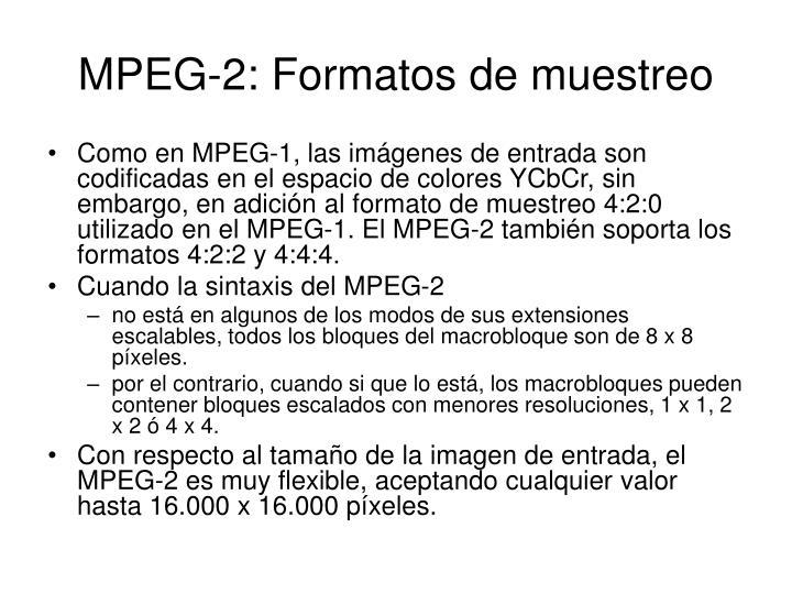 MPEG-2: Formatos de muestreo