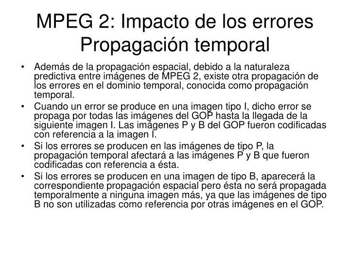 MPEG 2: Impacto de los errores