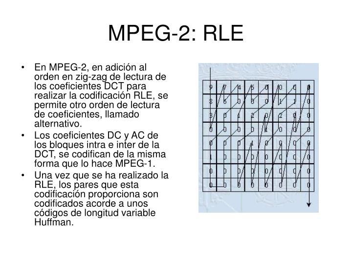 MPEG-2: RLE