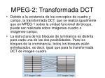 mpeg 2 transformada dct