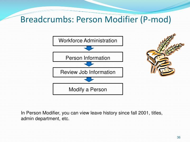 Breadcrumbs: Person Modifier (P-mod)