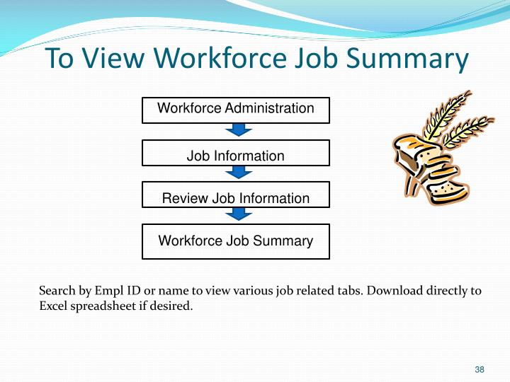 To View Workforce Job Summary