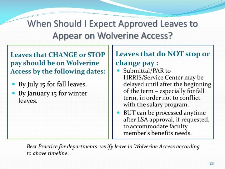 When Should I Expect Approved Leaves to Appear on Wolverine Access?