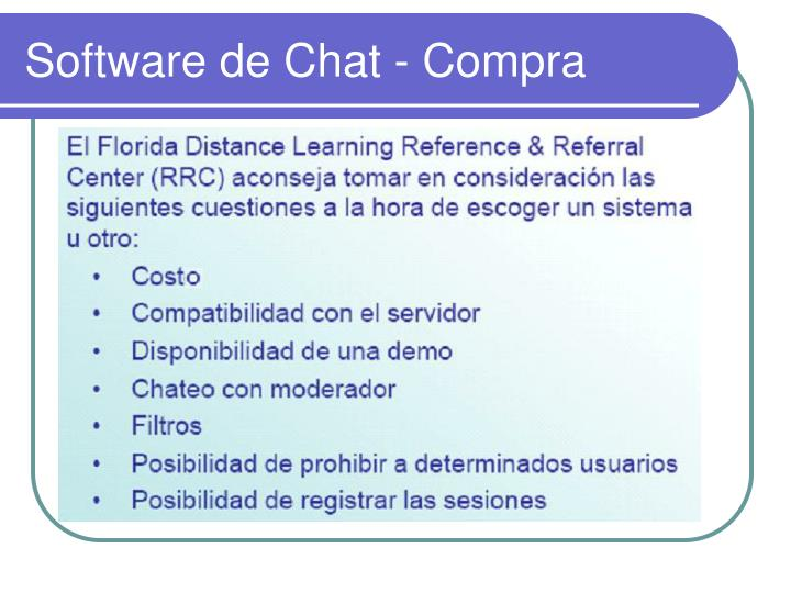 Software de Chat - Compra