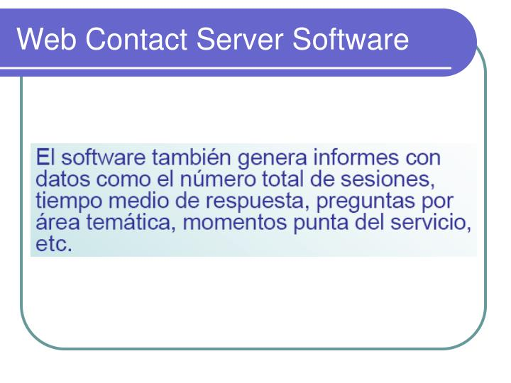 Web Contact Server Software