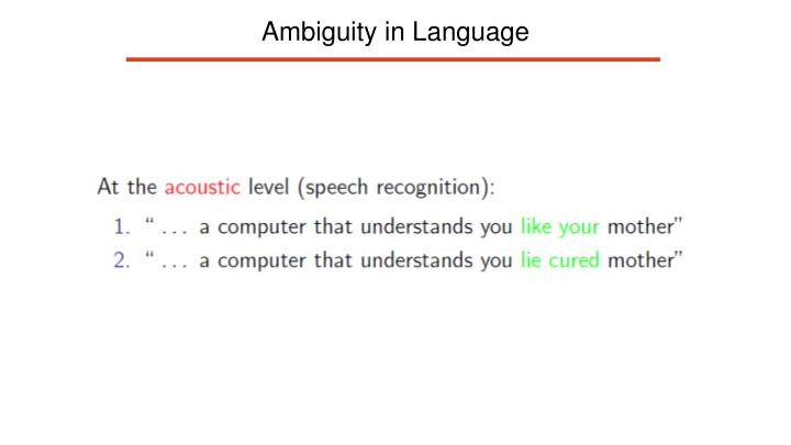 Ambiguity in Language