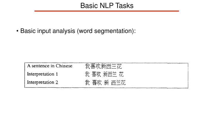 Basic NLP Tasks