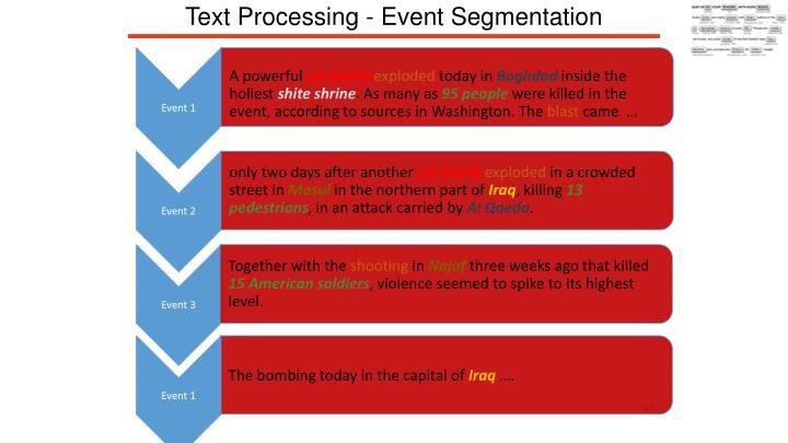 Text Processing - Event Segmentation