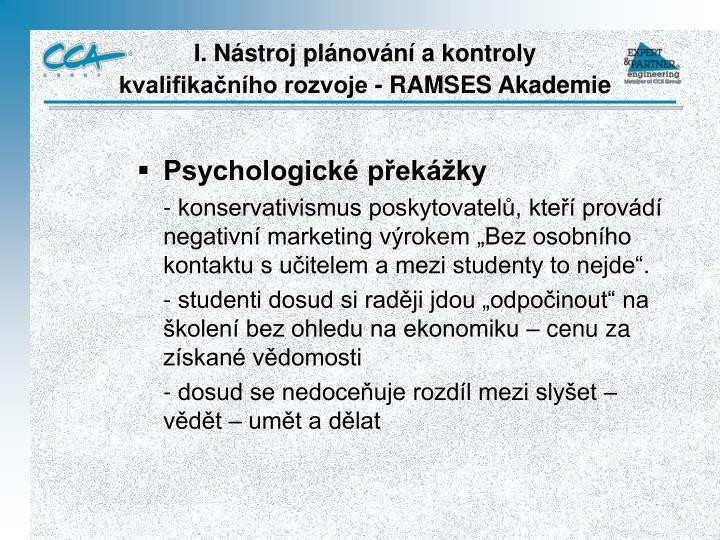 Psychologické překážky