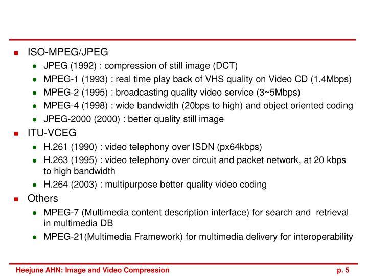 ISO-MPEG/JPEG