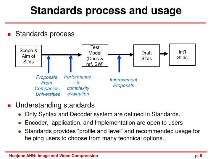 Standards process and usage