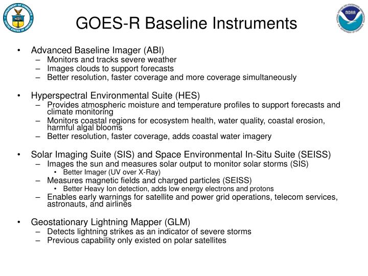 GOES-R Baseline Instruments