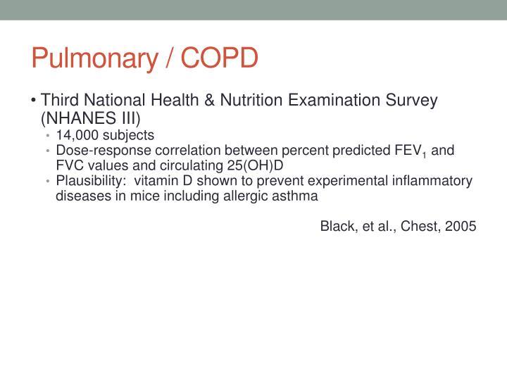 Pulmonary / COPD
