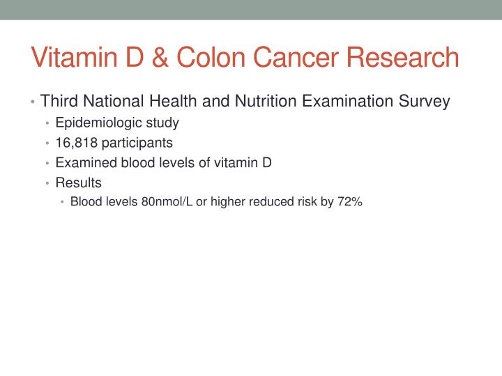 Vitamin D & Colon Cancer Research