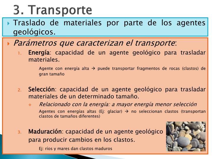 3. Transporte