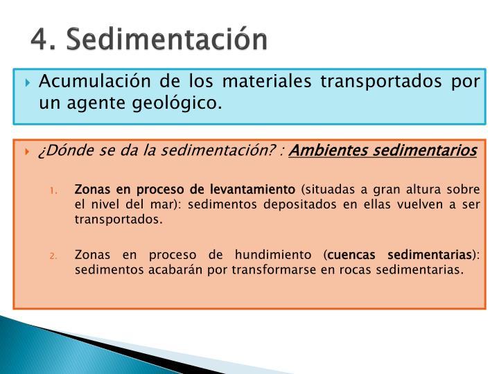 4. Sedimentación
