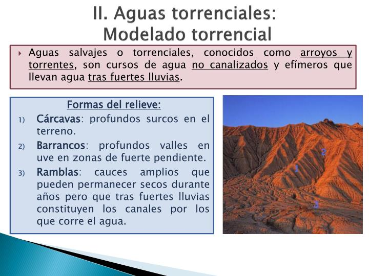 II. Aguas torrenciales: