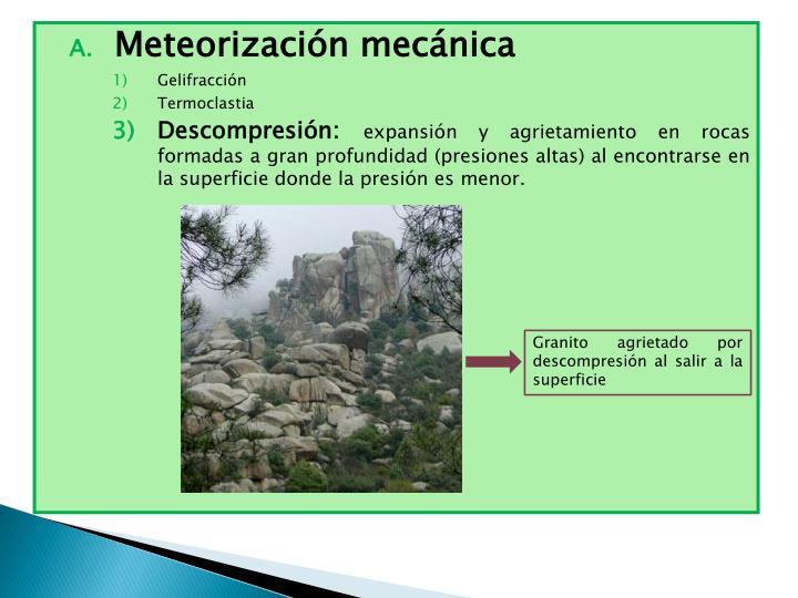 Meteorización mecánica