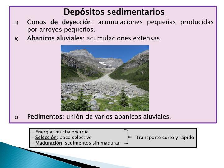 Depósitos sedimentarios