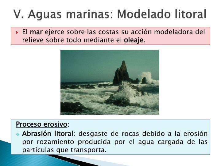 V. Aguas marinas: Modelado litoral