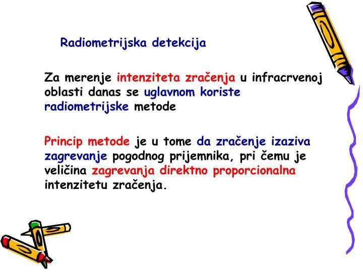 Radiometrijska detekcija