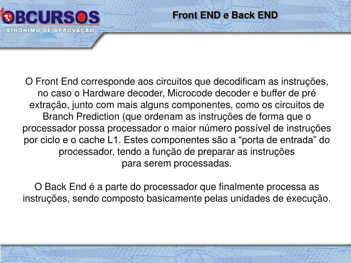 Front END e Back END
