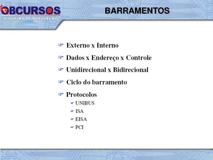 BARRAMENTOS