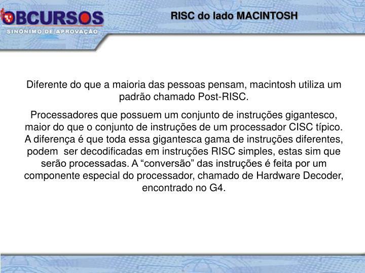 RISC do lado MACINTOSH