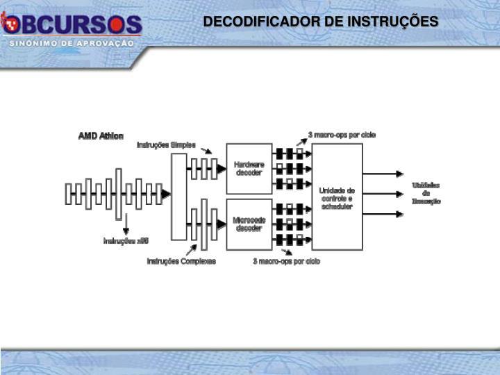 DECODIFICADOR DE INSTRUÇÕES