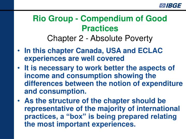 In this chapter Canada, USA and ECLAC experiences are well covered